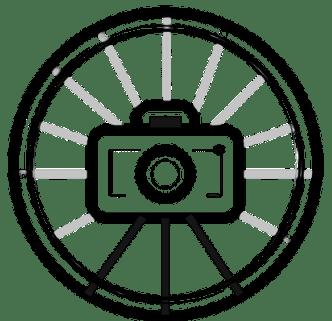 Photos with a Spin logo